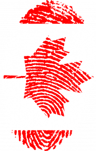 canada, flag, fingerprint